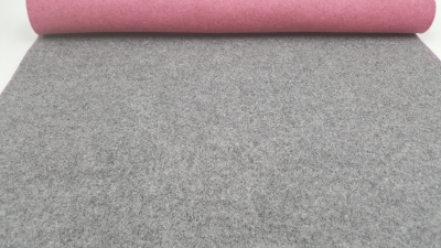 Wollfilz 3 mm Filz, zweifarbig, zweifarbiger Filz grau-rosa, Rolls 45 x100 cm