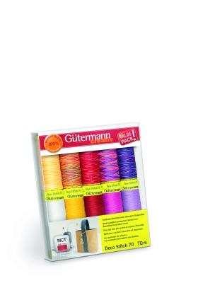 Gütermann Creativ Nähgarn Set Deco Stitch 70,  Col 1, 10 Farben
