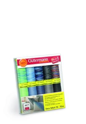 Gütermann Creativ Nähgarn Set Deco Stitch 70,  Col 2, 10 Farben