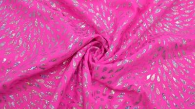 Bodystoff Neon Pink Silber Tropfen Badeanzugsstoff Stretch