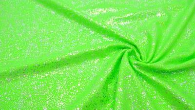 Bodystoff Neongrün Silber gesprenkelt Badeanzugsstoff Stretch