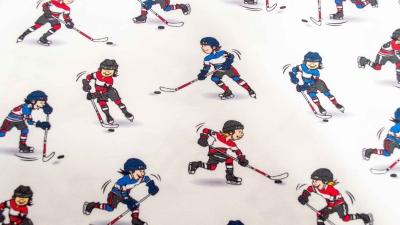 Eishockey weiß Baumwolljersey Eishockeyspieler