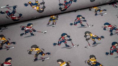 Eishockey grau Baumwolljersey Eishockeyspieler