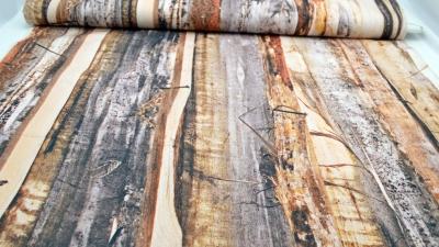 Holzbrett Digitaldruck, Dekostoff in mehrfarbiger Holzoptik