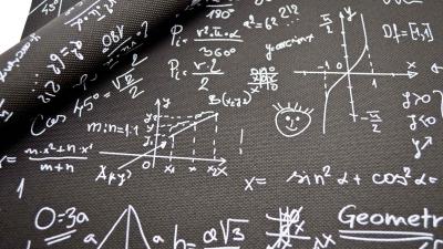 Mathematik Kunstleder Matheformeln Mathestoff schwarz
