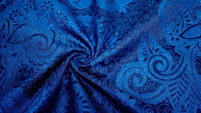 Brokat Elina Blau Brokatstoff orientalisch