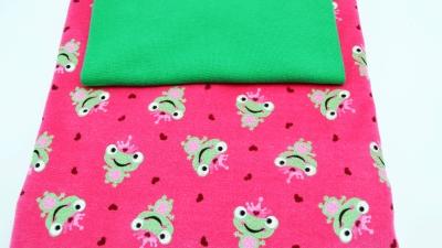 DIY-Nähset Baby Pumphose Frosch mit grünem Bündchen