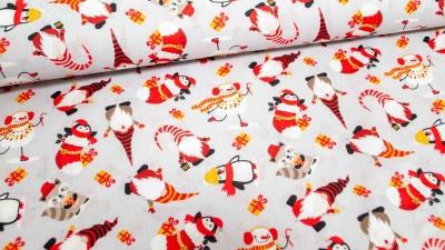 Weihnachtswichtel Lutin Schneemann Pinguin Baumwolle