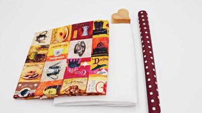 Brotkörbchen DIY Set Tea Time Utensilo Materialset zum Selbernähen