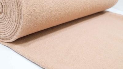 Walk Beige Walkloden Walkstoff beige 100 % Wolle